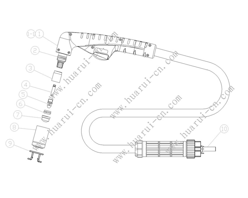 A141割枪(示意图)-Model