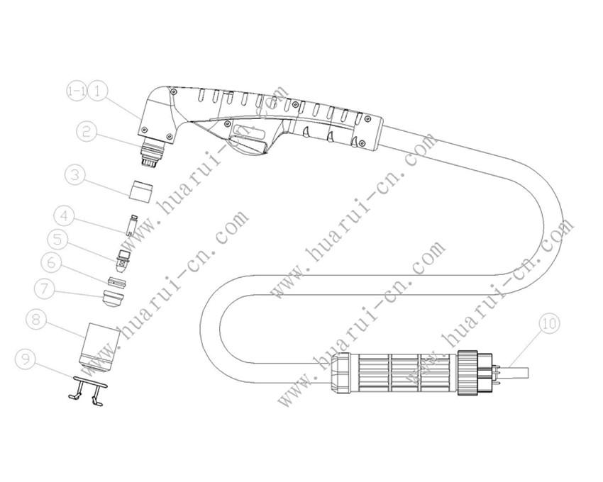 A101割枪示意图-Model