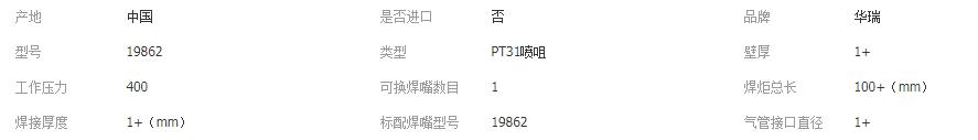 PT31长喷嘴